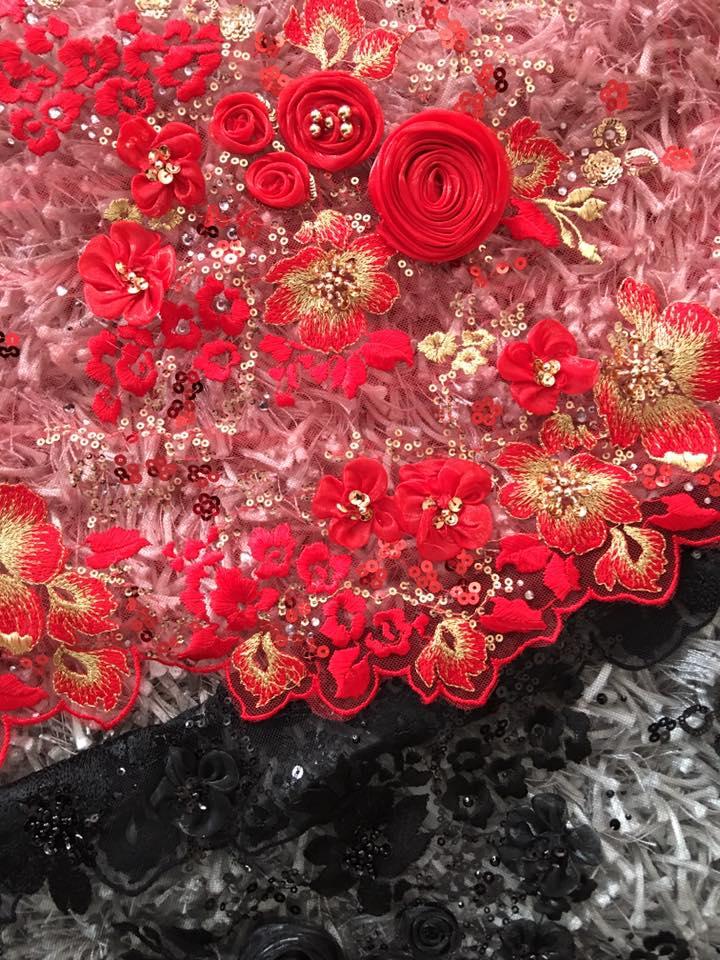 3D fabric appliques