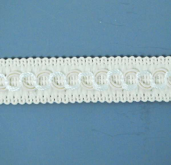 E1903 Ivory Woven Braid Gimp Sewing Upholstery Trim 3/4""