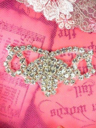 """ACT/XR243/B Rhinestone Applique Crystal Silver Elegant Tiara 2.75"""""""