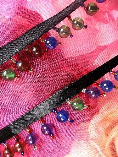 C26206 Multi Color Beaded Fringe Sewing Trim