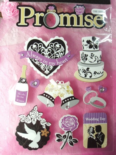 DS3  Bridal Wedding Scrapbook Embellishments