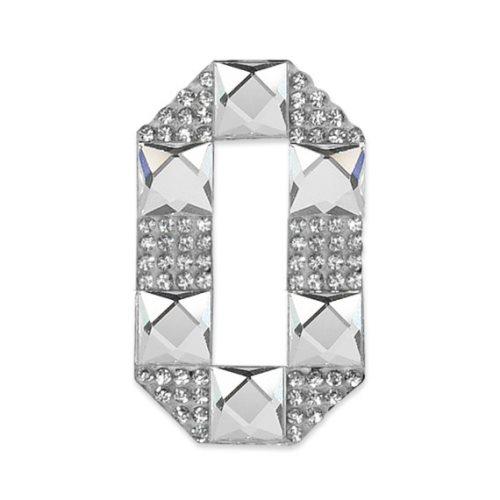E1328/0 Crystal Rhinestone Applique Number Zero Iron On Patch 2.5\