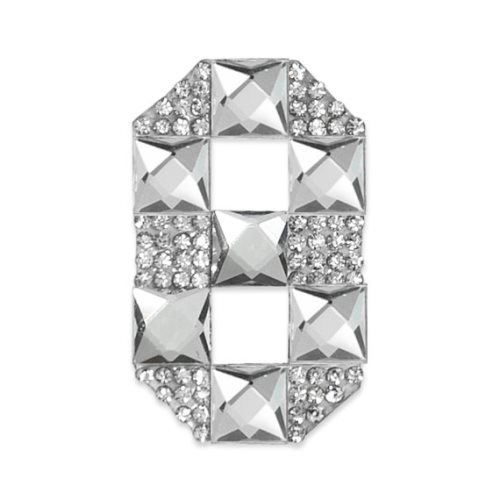 E1328/8 Crystal Rhinestone Applique Number Eight Iron On Patch 2.5\