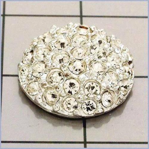 FS3021 Silver Rhinestone Button .75\