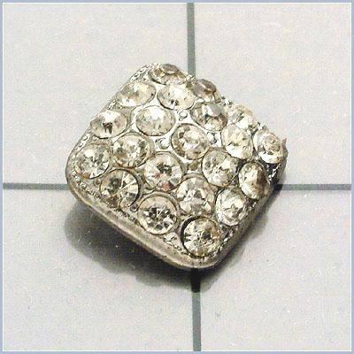 FS3383 Silver Rhinestone Button 3/8\