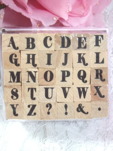RS12  Alphabet  Rubber Stamp Set