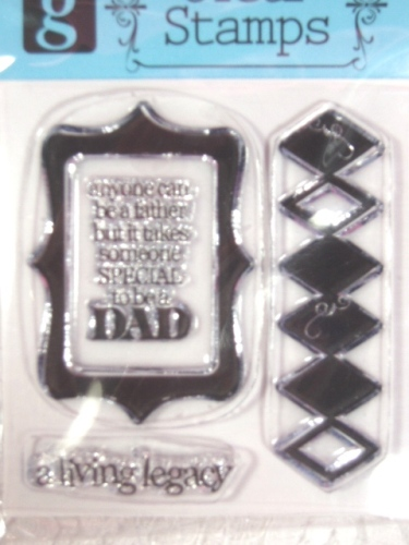 RS16  Clear Stamp Dad Stamps