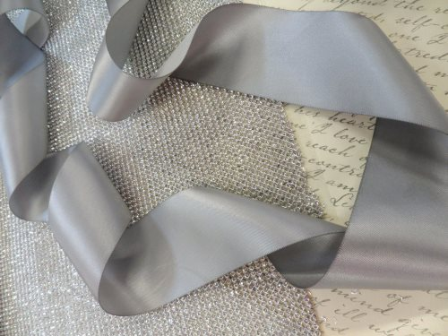 Bridal Sash 2 Inch Ribbon Do it yourself! Choose Color and optional Rhinestone Ends