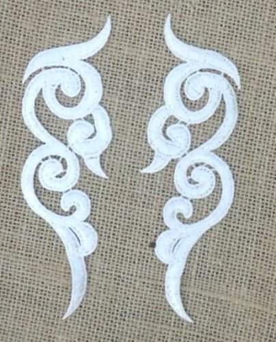 white embroidered appliques patch. Black Bedroom Furniture Sets. Home Design Ideas