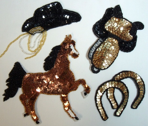 Western Rodeo Sequin Appliques