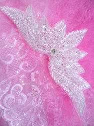 0084 Crystal Motif Sequin Beaded Applique 7""