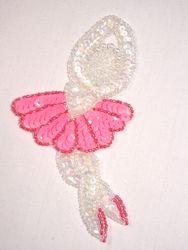 "0116  Ballerina Girl Beaded Sequin Applique 5"""