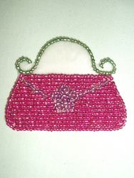 0195  Ladies Purse Beaded  Applique 2.5""