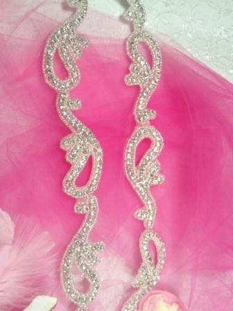 0473  Genuine Rhinestone Beaded Trim  1.75&quot;