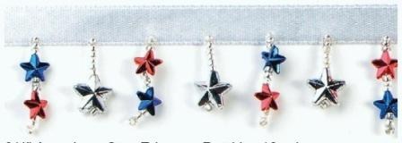 E1490  Patriotic Star Beaded Fringe Sewing Trim