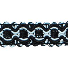 "E6606 Black White Gabrielle Decorative Braid Gimp Sewing Upholstery Trim 3/4"""
