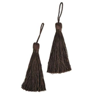E5524  Set of Two Dark Brown Tassels 3.75""