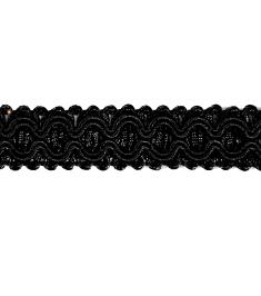 "E6606 Black Gabrielle Decorative Braid Gimp Sewing Upholstery Trim 3/4"""