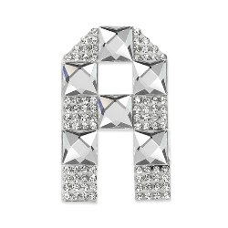 E1327A  Rhinestone Letter Applique A Iron On Patch Crystal 2.5""