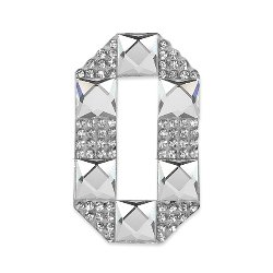 E1327O  Rhinestone Letter Applique O Iron On Patch Crystal 2.5""