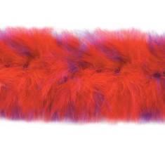 "D6267 Red Hat Marabou Fur Feather Trim 36"" Package Pre-cut"