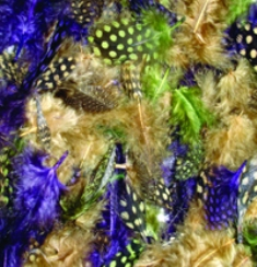 MR39352 Mardi Gras Feathers Package 7 grams