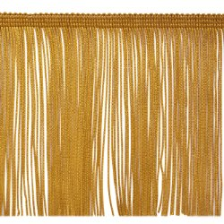 E4428 Gold Chainette Fringe Trim 6""