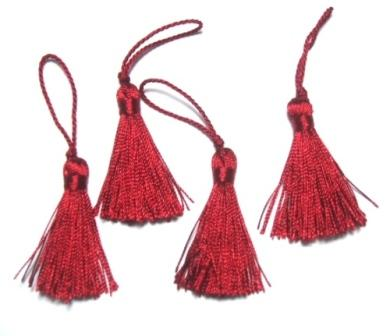 E5970  Set of ( 4 )  Wine Mini Tassels 2""