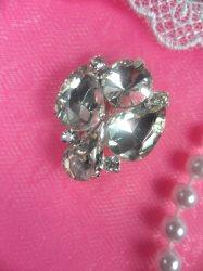 "ACT/N47 Angel Crystal Clear Glass Rhinestone Embellishment 1"""