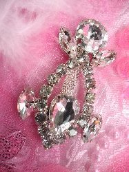 """ACT/TS116/C I Just Love to Praise the Lord Crystal Rhinestone Embellishment 2.5"""""""