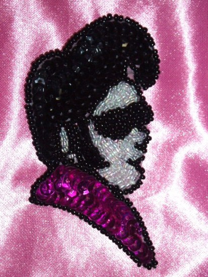 "Elvis Presley 3.5"" Sequin Beaded Applique 0106"