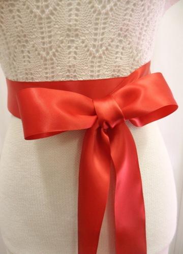 "Bridal Sash Satin Ribbon Double Face Sealed or Rhinestone ends 2"" X 108"""