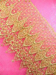 """C13 Elegant Metallic Gold Victorian Venice Lace Trim 5"""""""
