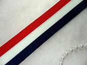 "Stretch Trim Patriotic Red White Navy Blue Elastic Suspender Belt Banding 1.25"" (C132-pat2)"