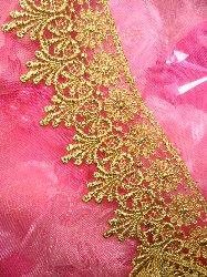 """C137 Elegant Metallic Gold Victorian Venice Lace Trim  2.75"""""""