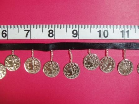 C99 Silver Coin Beaded Fringe Sewing Trim