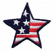 Star Applique Embroidered Patriotic Flag Iron On 2 inch (C999895)