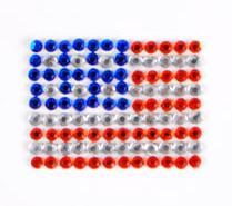 E7308  Peel n Glitz Patriotic American Flag Jewel Applique