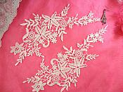 "Embroidered Lace Appliques White Floral Venice Lace Mirror Pair 11"" (DH89X)"