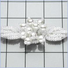 FS187 Ceylon Beaded Pearl Cluster Trim .75""