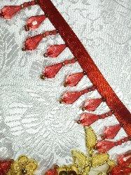 "E1670 Rust Teardrop Beaded Fringe Sewing Trim 1"""