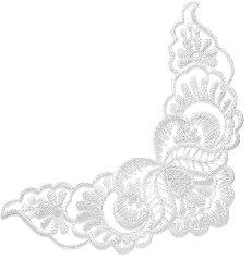 """E2725 White Lace Collar Venise Lace Applique 8"""""""