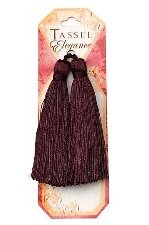 E5524  Set of (2) Eggplant Tassels 3.75""