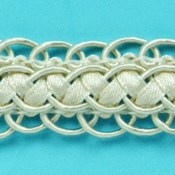 E6696 Ivory Gimp Sewing Upholstery Trim 3/4""