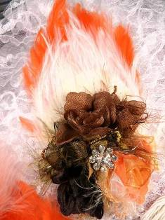 FB56 Fall Harvest Floral Rhinestone Feather