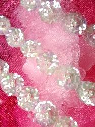 FS3162 Aurora Borealis Crystal AB Floral Vine Beaded Trim