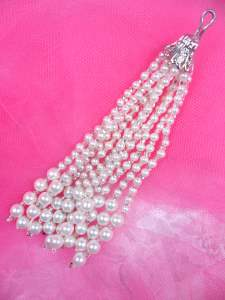 FS6263B Pearl Dangle Beaded Applique 4""