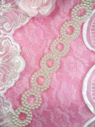 "FS7345 Pearl White Circle Round Sewing Trim 1.25"""