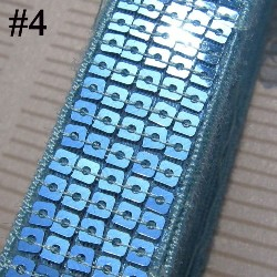 """GB128 Aqua Sequin Sewing Craft Trim 5 Row 1"""""""