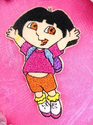 "GB20 ""Dora The Explorer"" Embroidered Applique 3.5"""